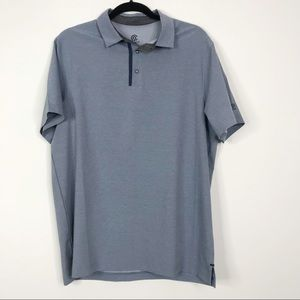 C9 Champion Woven Stretch Golf Polo Blue Large L